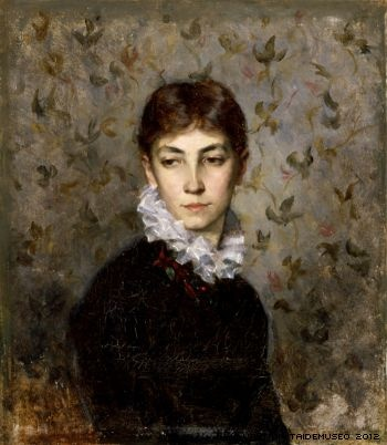Maria Wiik, Portrait of the Artist´s sister Miss Hilda Wiik, 1880