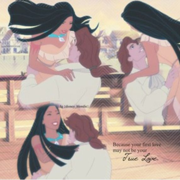 Pocahontas and John Rolfe...I much preferred him over John Smith in the movies. Plus this a beautiful quote!!