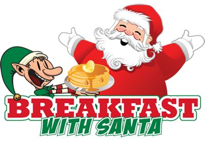 Image result for santa having breakfast