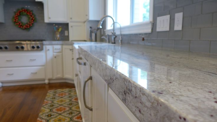 contemporary river white granite kitchen countertop