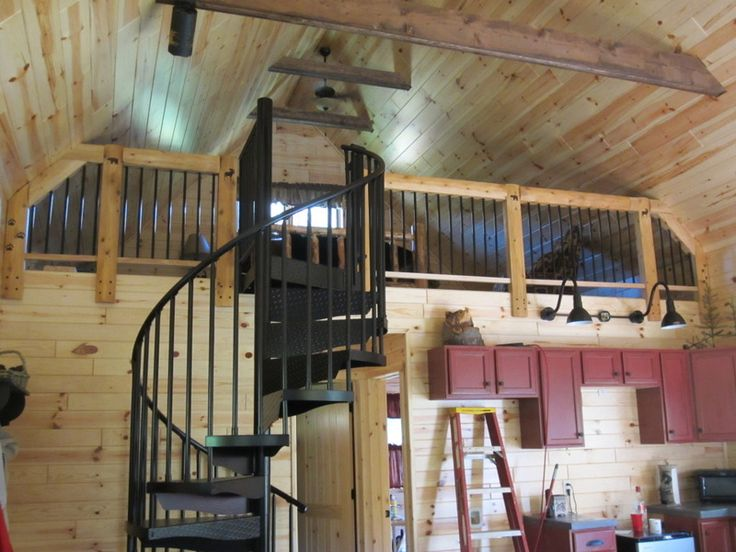 Spiral Stairs Story Cabin Michigan Perhaps Should Paint Our White One Dark