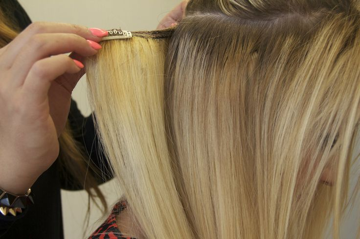 Sleek, smooth, beautiful blonde #remy clip in extensions. Just pop them in! http://www.pacifichair.ca/collections