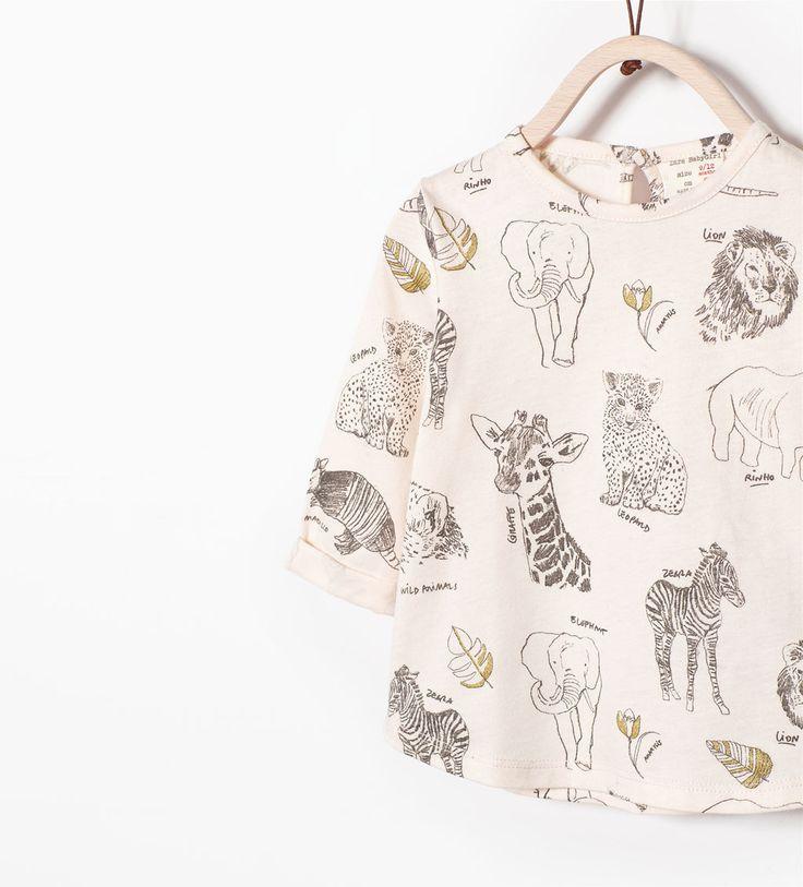 SHINY ANIMALS T-SHIRT-T-shirts-Baby girl (3 months - 3 years)-KIDS | ZARA United States