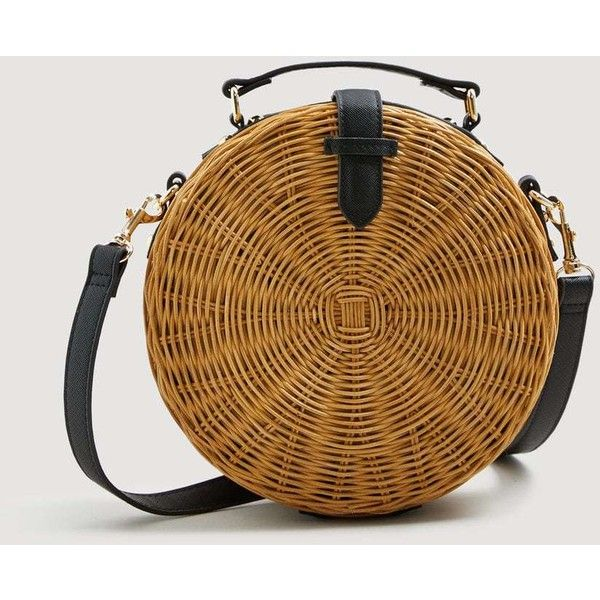 Bamboo Coffer Bag (3.935 RUB) ❤ liked on Polyvore featuring bags, handbags, mango handbags, brown bag, mango bags, brown handbags and bamboo purse