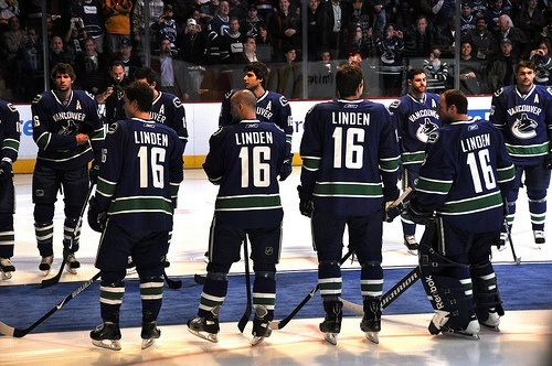 All Canucks Players Wearing #16