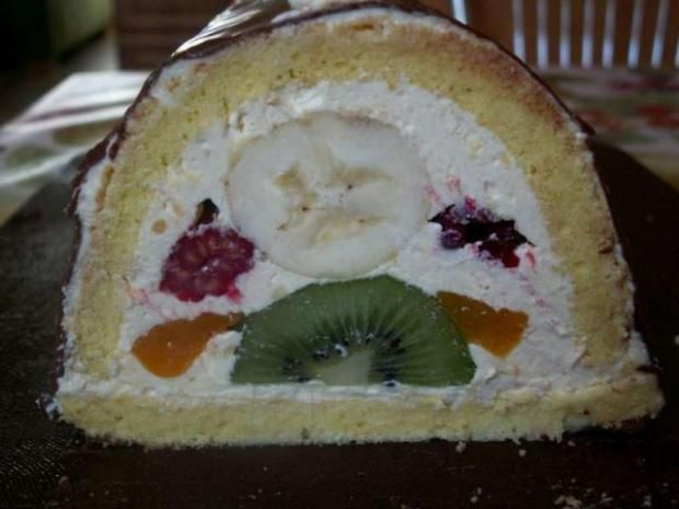 Ovocný ;bomba tunel - recept