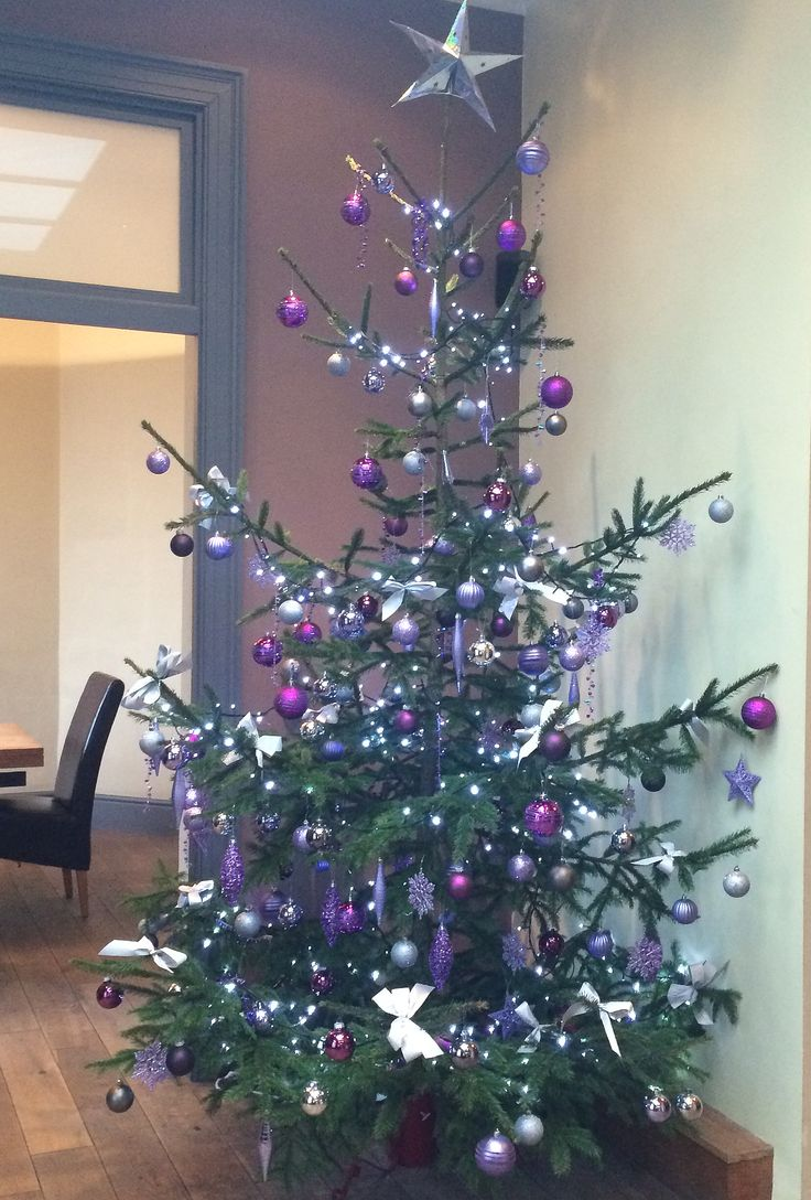 Christmas Tree In The Restaurant