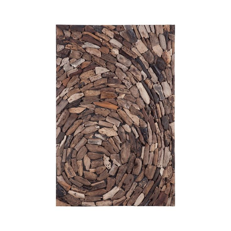 Natural Driftwood Whirl Wall Art