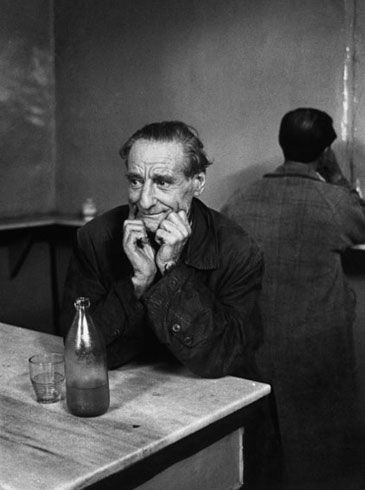 A thinking man in a Turkish meyhane (A traditional bar) in Istanbul by Ara Guler