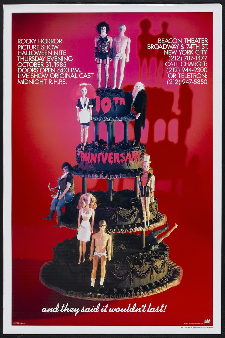 150 best the rocky horror picture show images on pinterest horror official 10th anniversary poster for the rocky horror picture show 19751985 bookmarktalkfo Gallery