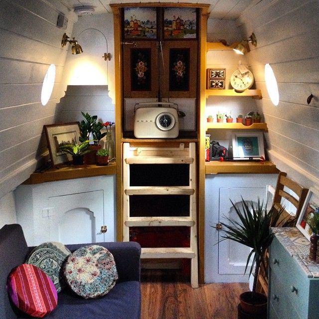 narrowboat interior