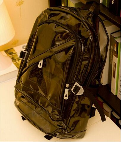 free shipping 2015 New  School bag / bags women Fluorescent color transparent bag / candy color / Crystal bag