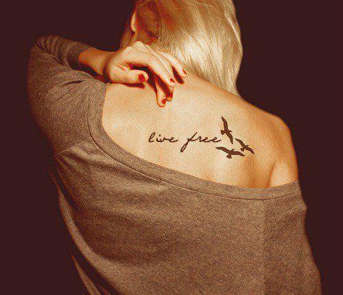 """Live Free"" Tattoo - Beautiful and I seriously may NEED it."