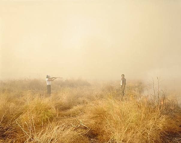 Richard Misrach - Desert Fire #153 (Man with Rifle)