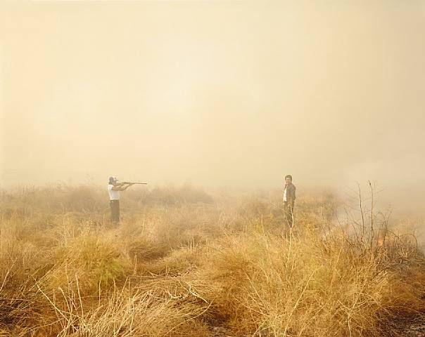 Richard Misrach - Desert Fire #153 (Man with Rifle)