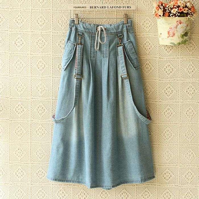 Cheap Skirts on Sale at Bargain Price, Buy Quality skirts winter, jean skirt, jeans 46 from China skirts winter Suppliers at Aliexpress.com:1,Pattern Type:Solid 2,Dresses Length:Ankle-Length 3,Model Number:S051 4,Silhouette:A-Line 5,Decoration:Pockets