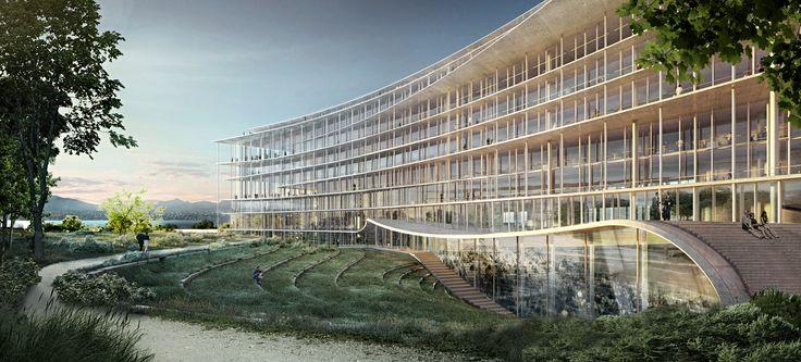 Herzog & de Meuron Wins Competition for Swiss Bank Headquarters Overlooking Lake Geneva