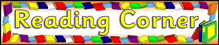 Book/Reading Corner display banners (SB2853) - SparkleBox