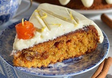 Zdravější dezert - Mrkvový dort s citronovou polevou | NejRecept.cz