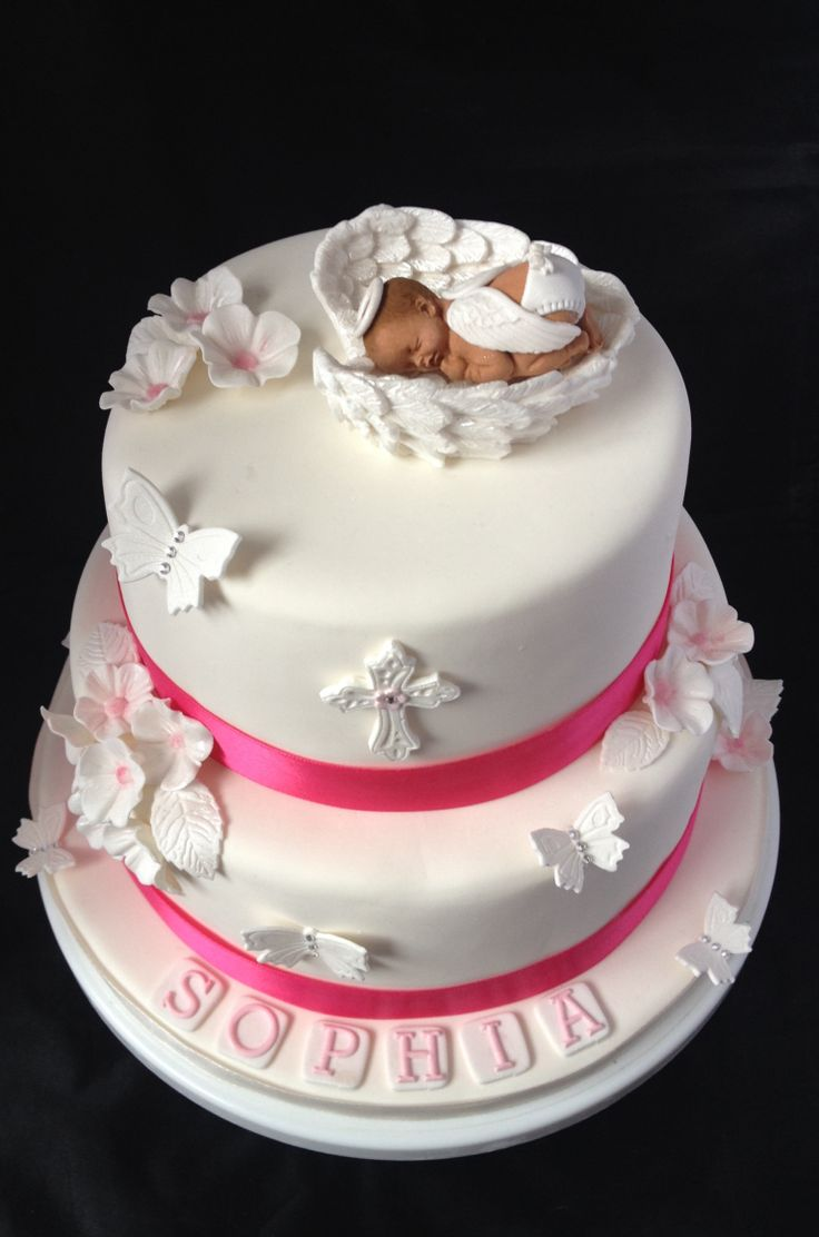 Angel Baby Christening Cake