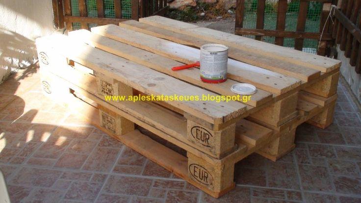 Τραπεζάκι Σαλονιού από Παλέτες !!! My Coffe Pallet Table ! – Easycraft.gr
