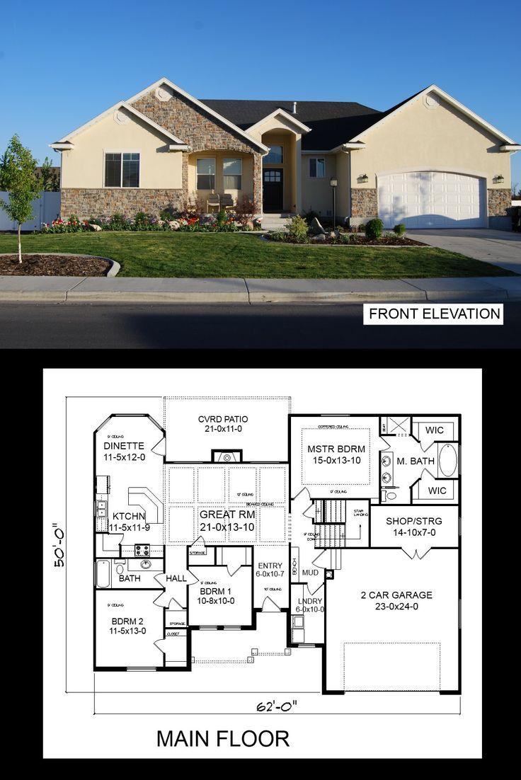 Full basement house plans house design plans for Full house house plan