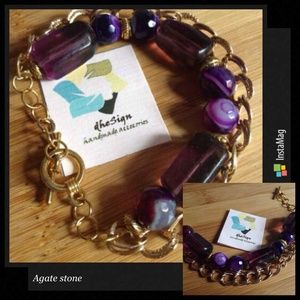Purple agate natural stone #gelang #gelangbatu