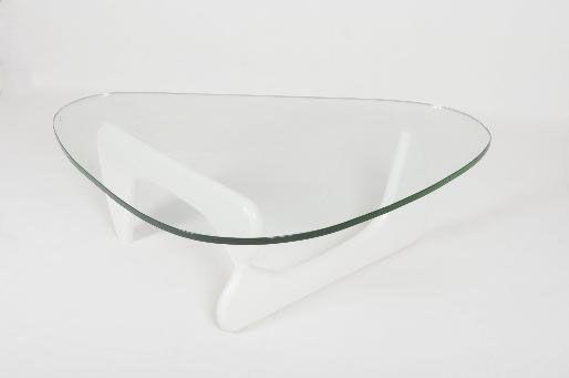 pied blanc plateau verre
