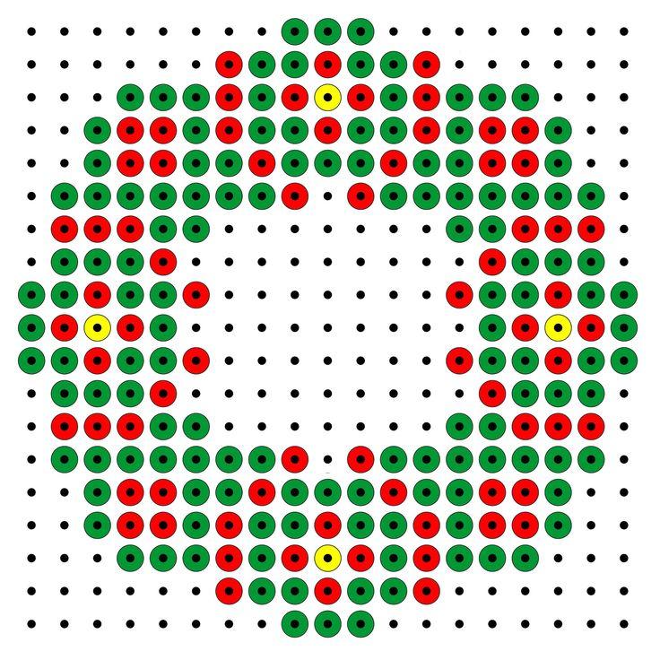 Strijkkralenpatroon - kerstbal
