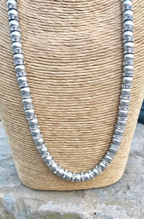 Silver Pearl Necklace, Light Grey Pearls,  Bridal Jewellery, Wedding Accessories £34.00