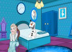 JuegosElsa.com - Juego: Decoración Cuarto Elsa - Minijuegos de la Princesa Elsa Frozen Disney Jugar Gratis Online