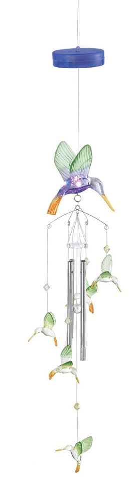 Hummingbird Color Change Wind Chime