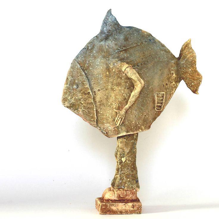 283 best ceramic sculptures ceramic figurine rze by for Ceramic fish sculpture