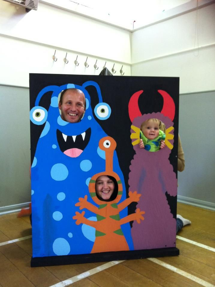 Enjoying the MONSTER photo booth