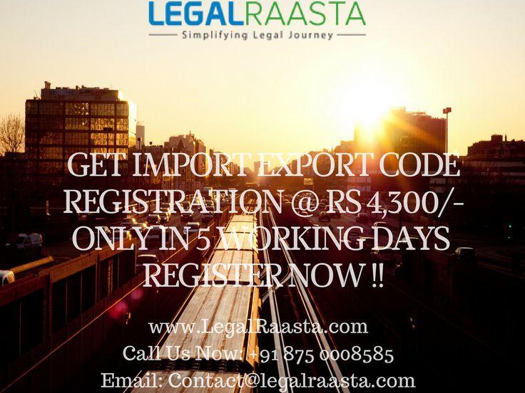 Get import export code registration @4,300/- only in 5 days