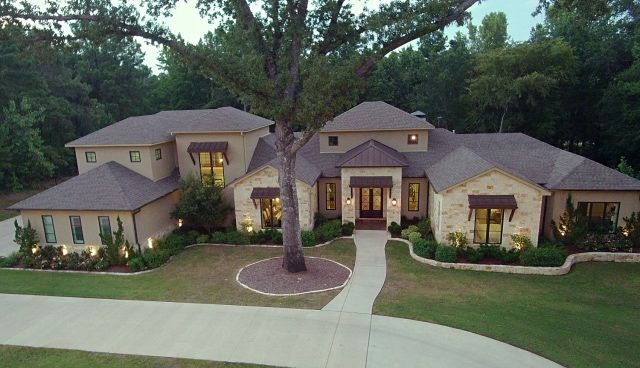 One of the latest exterior home designs from Trent Williams Construction, Tyler, Texas