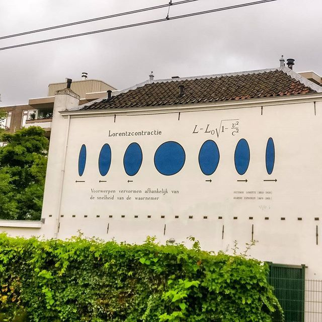 A break from #wallpoetry with some Wall Physics - an old school visualisation of the Lorentz force. /Lorentzin voima seinällä.  #travel #solotravel #urban #urbanphotography #streetphotography #whitewall #wall #infographic #blue #clouds #physics #leiden #sohventures
