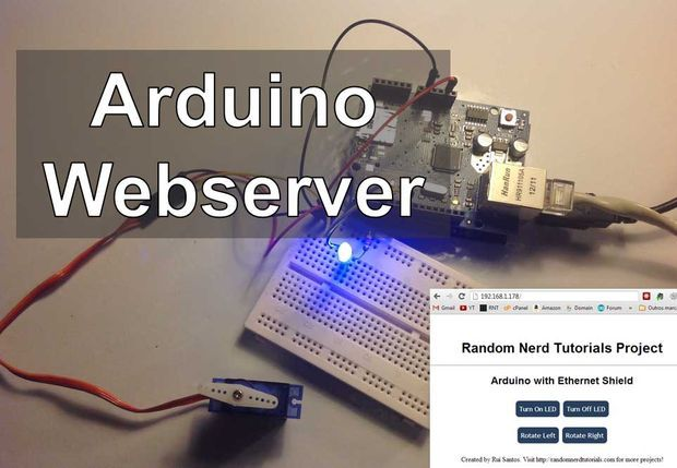 Arduino del servidor web de controlar las luces, relés, servos, etc ...