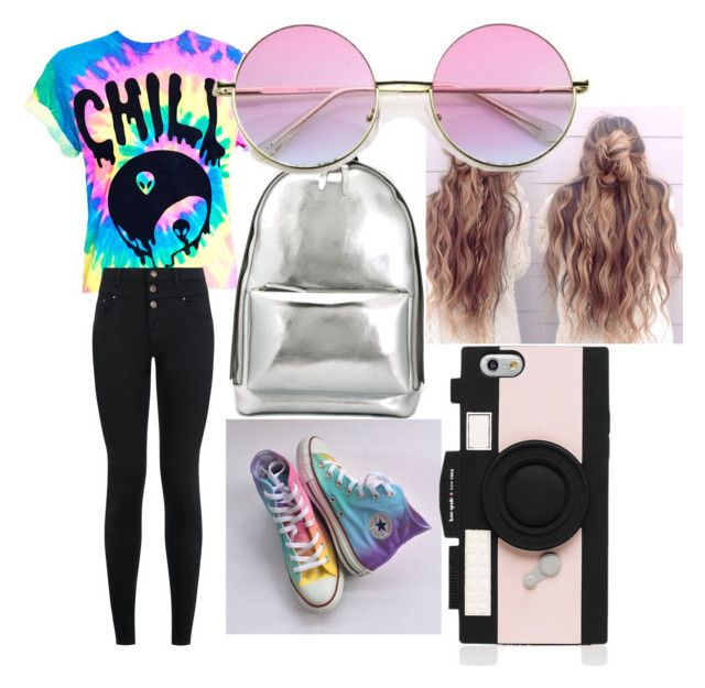 """""""hippie school outfit"""" by jackiebaldridge on Polyvore featuring New Look, Converse, 3.1 Phillip Lim and Kate Spade"""