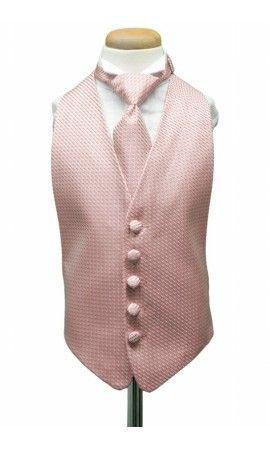 Rose Venetian Kids Tuxedo Vest