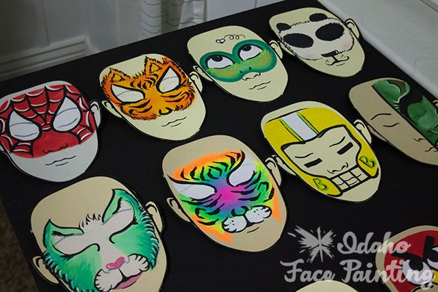 face painting boards | Good ideas from the face painting forum | Eastern Idaho Face Painting