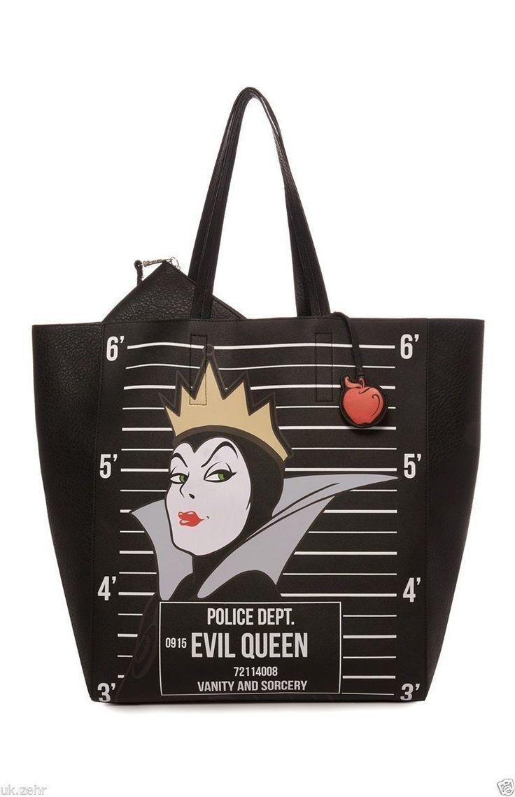 Primark Ladies Disney Villains Princess Tote Shopper Shoulder BAG Evil Queen…