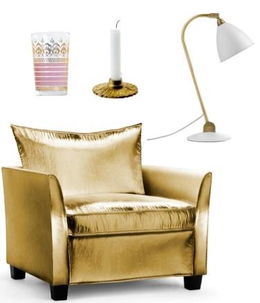 MariesCorner gold armchair GUBI House Doctor
