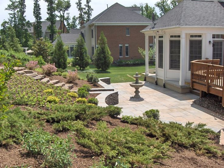 backyard slope terraced slopes pinterest