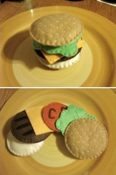 Cheeseburger Felt Food Set by KrissVengeance