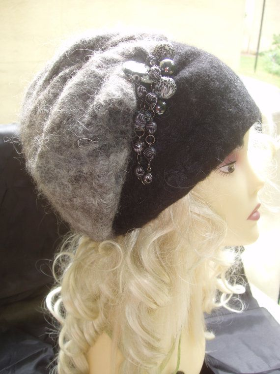 Fashion wet felted hat. Hand made from merino wool by rafaelart, $69.00