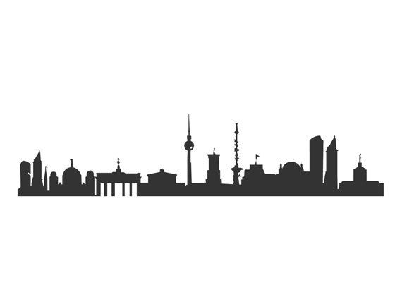 BERLIN Decal  Walltatoo with BERLIN skyline in by 44spaces on Etsy, €20.00