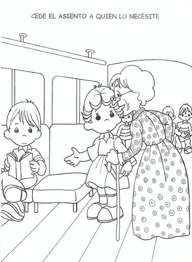 coloring pages for respect | Respect for the elderly ...