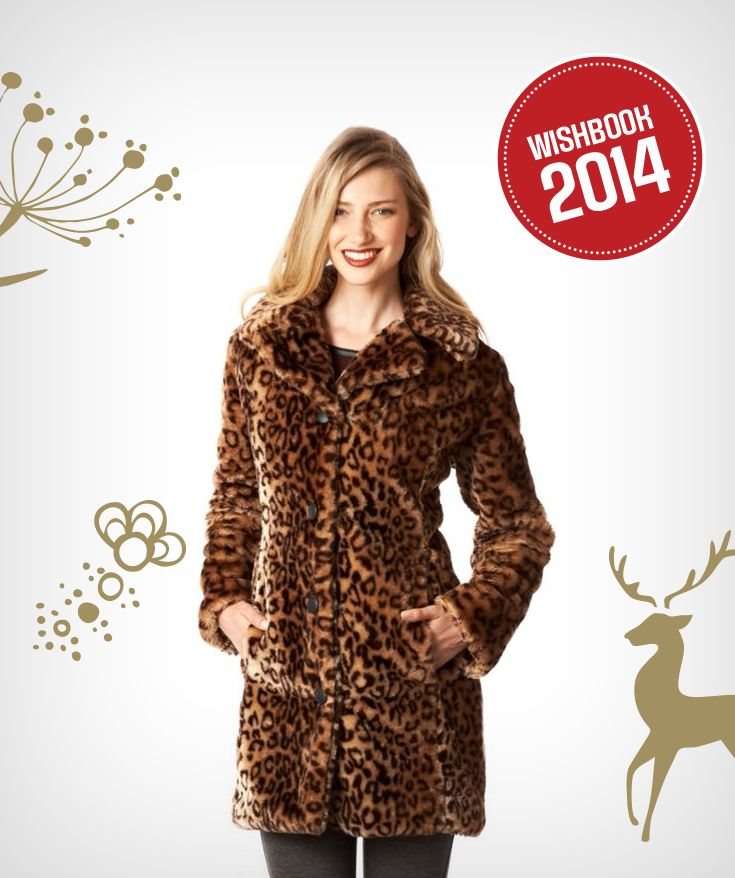 Make a statement at any holiday party this winter with luxurious faux-fur coat