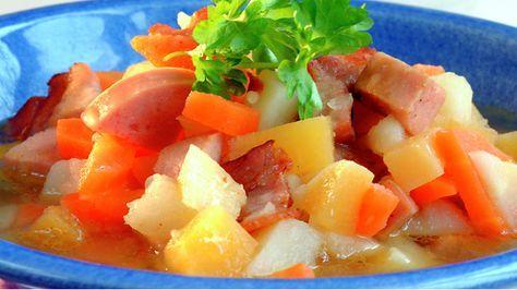 Pølse lapskaus - Norwegian sausage stew
